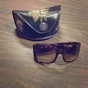 Ed Hardy Sunglasses w. Case